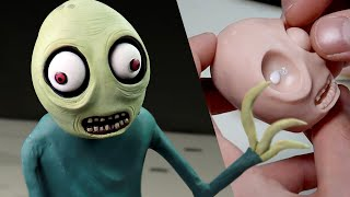 Sculpting SALAD FINGERS - Polymer Clay Timelapse Tutorial | Ace of Clay