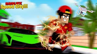 ROBLOX - BECOMING THE FASTEST MAN IN SPEED CITY!!