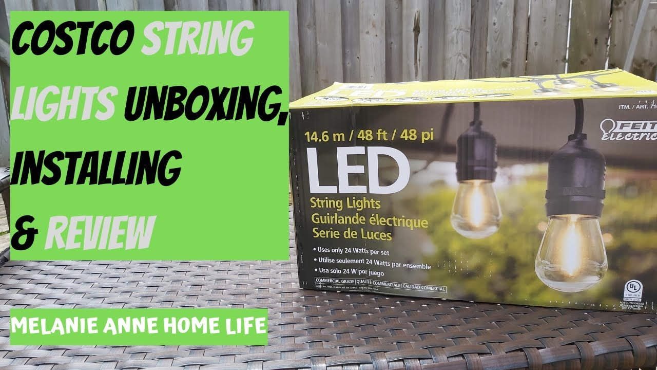 feit led string lights unboxing install and review