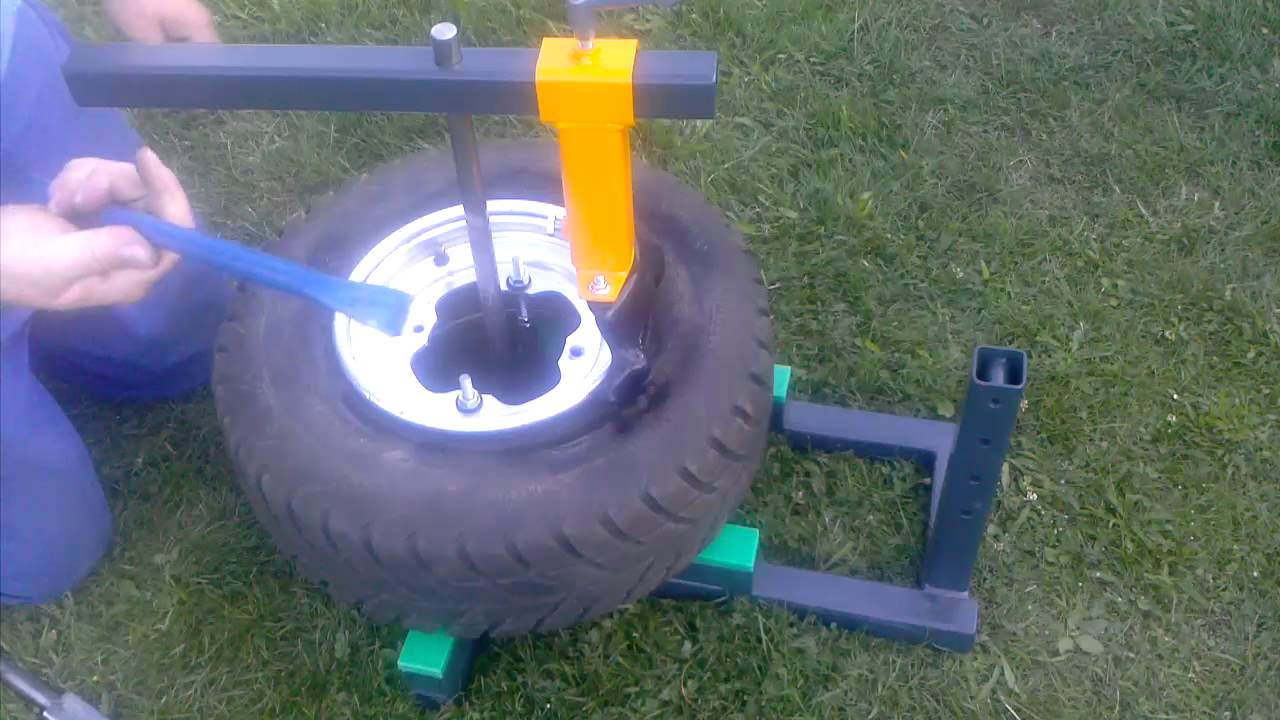 diy build manual tire changer changing quad front tires youtube rh youtube com harbor freight manual atv tire changer motorcycle/atv manual tire changer