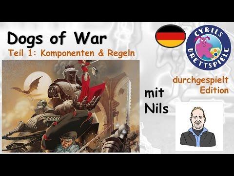 Cyrils Brettspiele - Dogs of War Brettspiel (S77E01) - ein komplettes Spiel