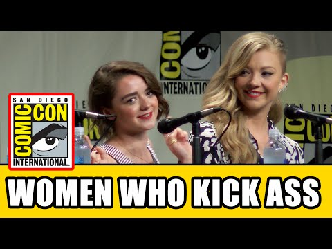 Game of Thrones Maisie Williams & Natalie Dormer   Comic Con Women Who Kick Ass Panel
