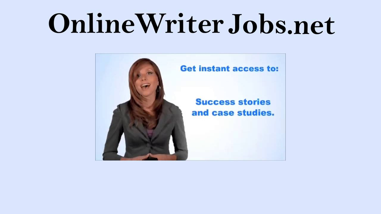 online writer jobs get paid to write at home