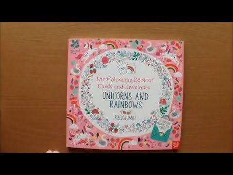 The Colouring Book Of Cards And Envelopes Unicorns Rainbows By Rebecca Jones Flip Through