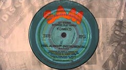 """KOMIKO - Feel Alright 12"""" instrumental 1982 Soul Funk Dance"""