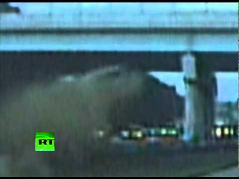 675 Crash Caught on Dash Cam: Pontiac smacks overpass, falls to pieces in Ohio