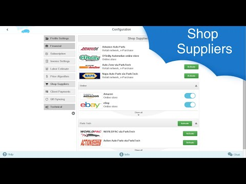 AutoRepair Cloud - Shop Suppliers (Updated v.2)