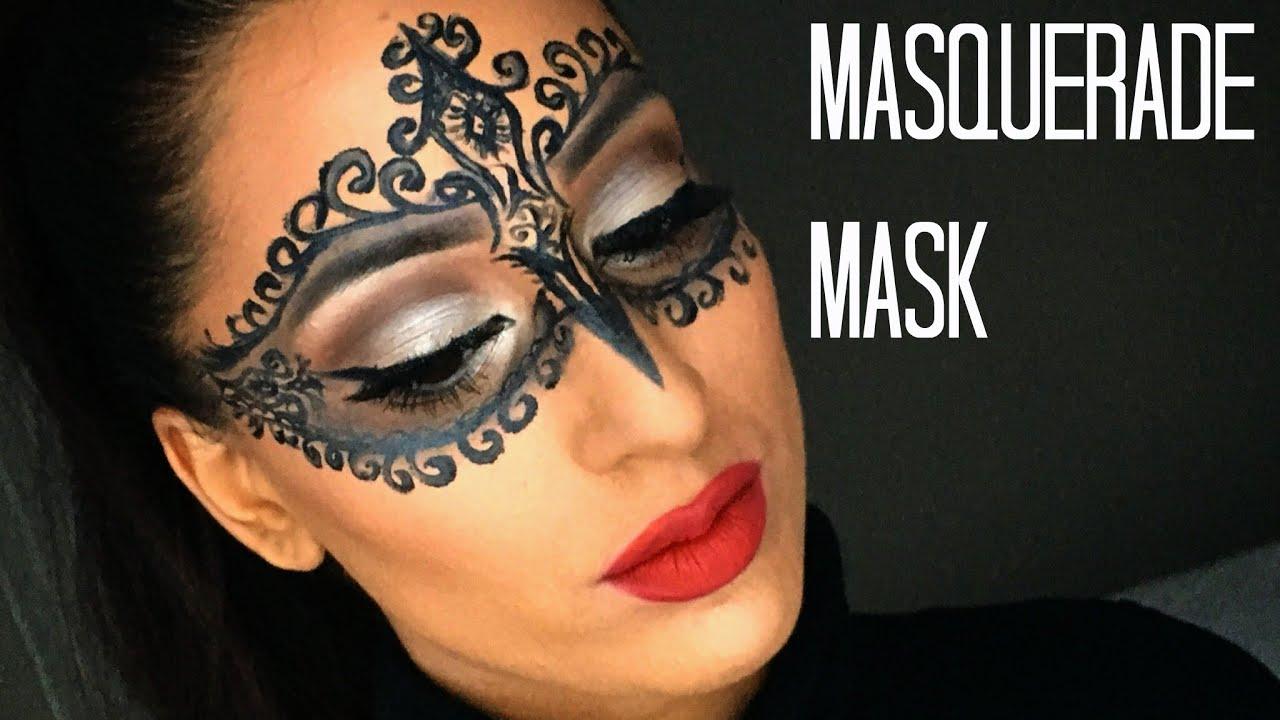 Diy Glam Masquerade Mask Using Only Eyeliner