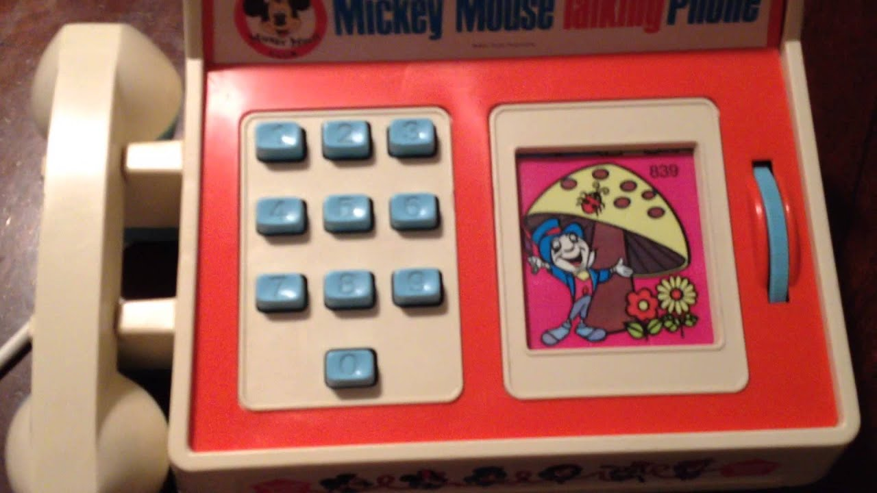 bc9735a0f1d7d6 1974 Mickey Mouse Talking phone - YouTube