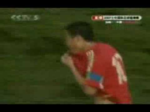 China u23 football team goals during Toulon Cup