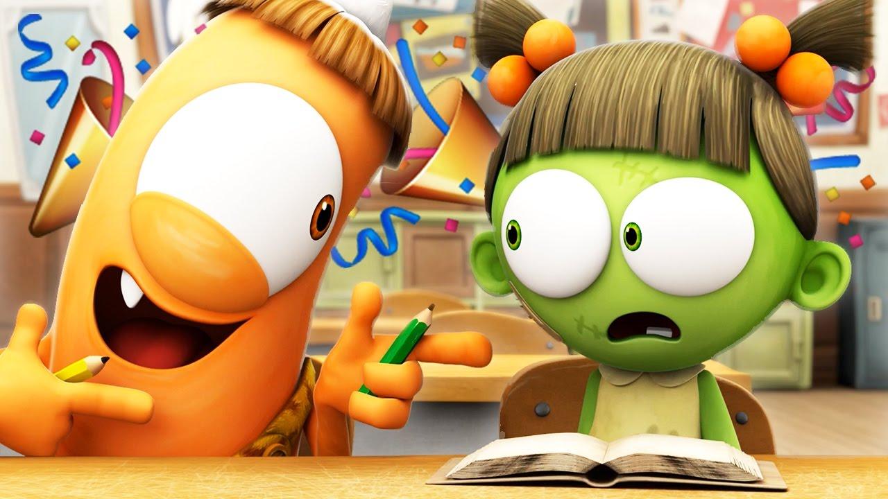 funny animated cartoon  ud83c udf89 spookiz new season  ud83c udf89 schools out