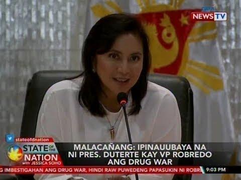 SONA: Malacañang: Ipinauubaya na ni Pres. Duterte kay VP Robredo ang drug war