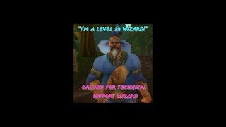 Russell Mania III, The Level 28 Wizard, Calls for a Technical Support Wizard for W.O.W.