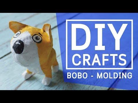 DIY How to make a paper mache dog clown cartoon - crafts step by step