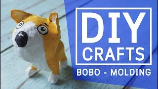 DIY How to make a paper mache dog clown cartoon - crafts step by step