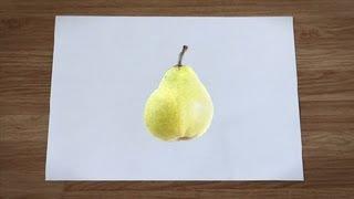 Como desenhar uma pêra : Como desenhar frutas