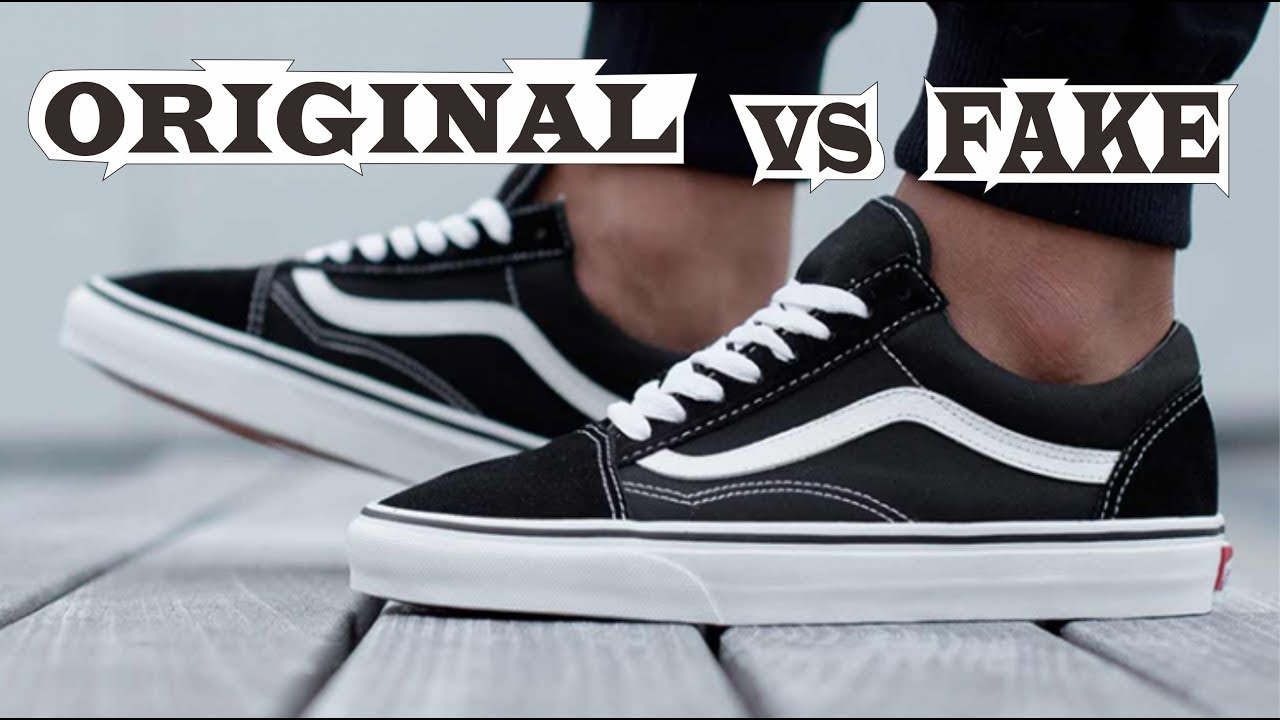 843096ec2a1 Vans Old Skool Black White Original & Fake