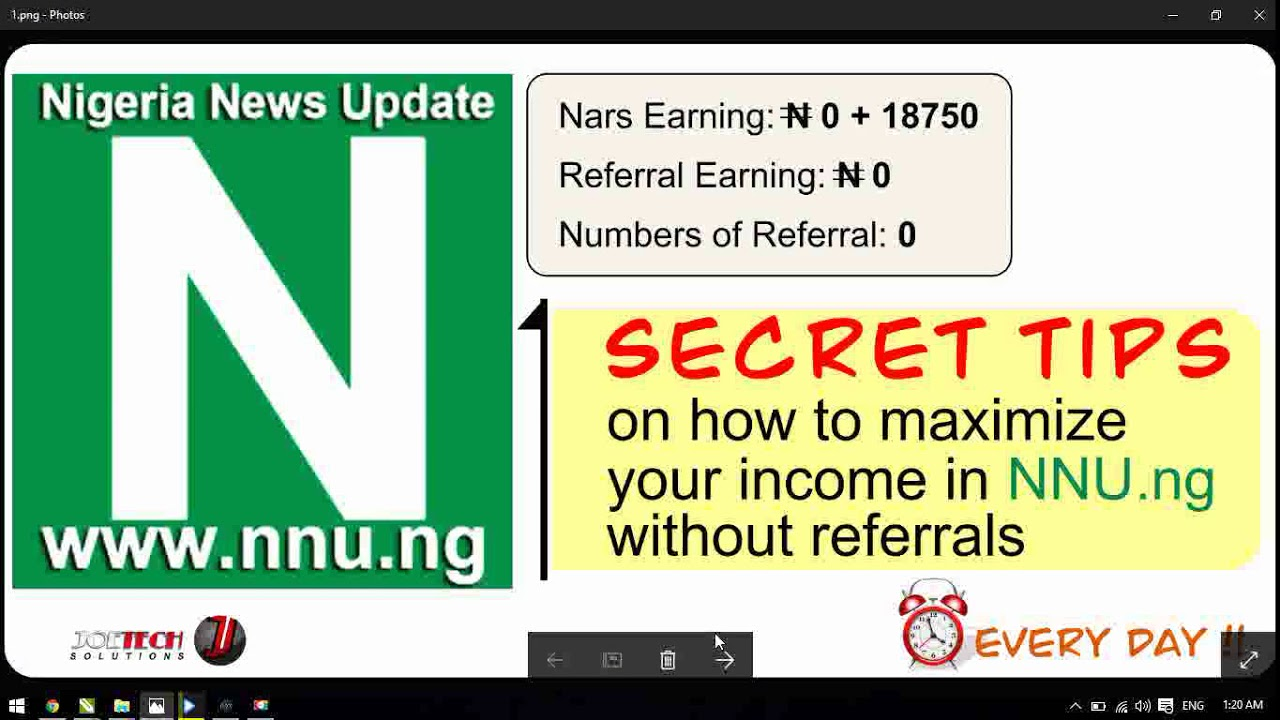 Secret tips on how to earn #18,750 without referrals in NNU ng within a  month