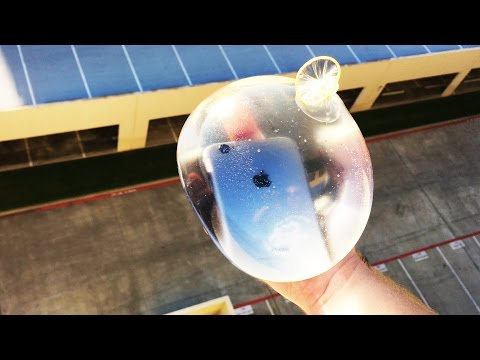 Thumbnail: Can Condom Filled with Water Protect iPhone 6 from 100 FT Drop? - GizmoSlip