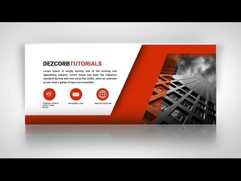How to Create Facebook Cover Photo Design in Photoshop CS6   Business Cover pic