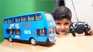 KIDS PLAY WITH TOYS DOUBLE DECKER RC BUS UNBOXING & TESTING