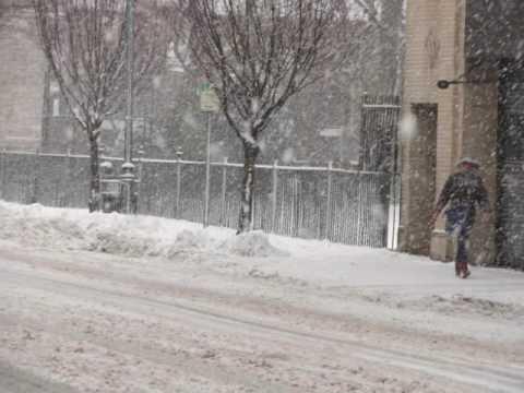 New Rochelle Snow Blizard in February 2010