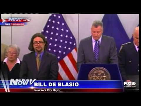 NYC Mayor Bill de Blasio Responds to Massive Blizzard