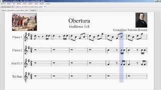 Download Obertura Guillermo Tell. Giachino Antonio Rossini. Partitura flauta dulce. MP3 song and Music Video
