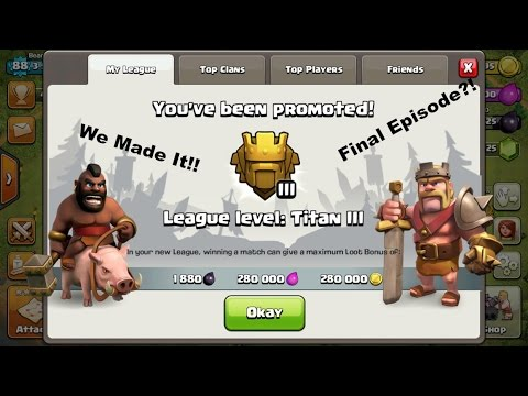 Clash of clan | Pushing to Titan's league as a Town Hall 8 | FINAL EPISODE?!?!