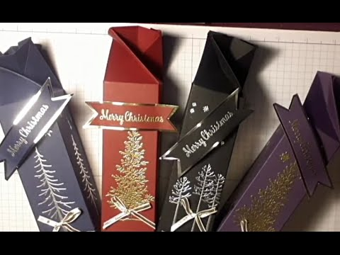 Stampin Up Lovely as A Tree  Ferrer Rocher Gift Box Stamping with DonnaG