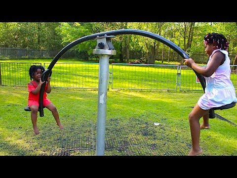 Outdoor Playground Fun Video For Children With Toys AndFun Sisters | Entertainment for Kids