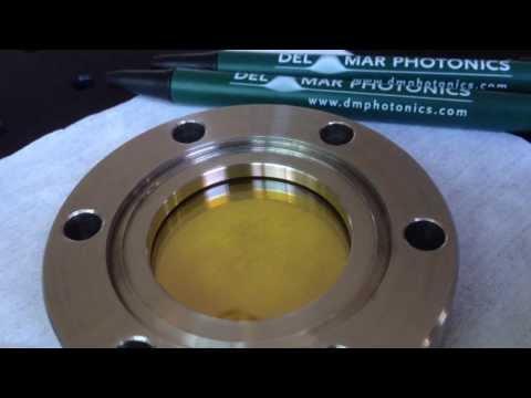 Vacuum viewport for Quantum Cascade Lasers sales@dmphotonics.com