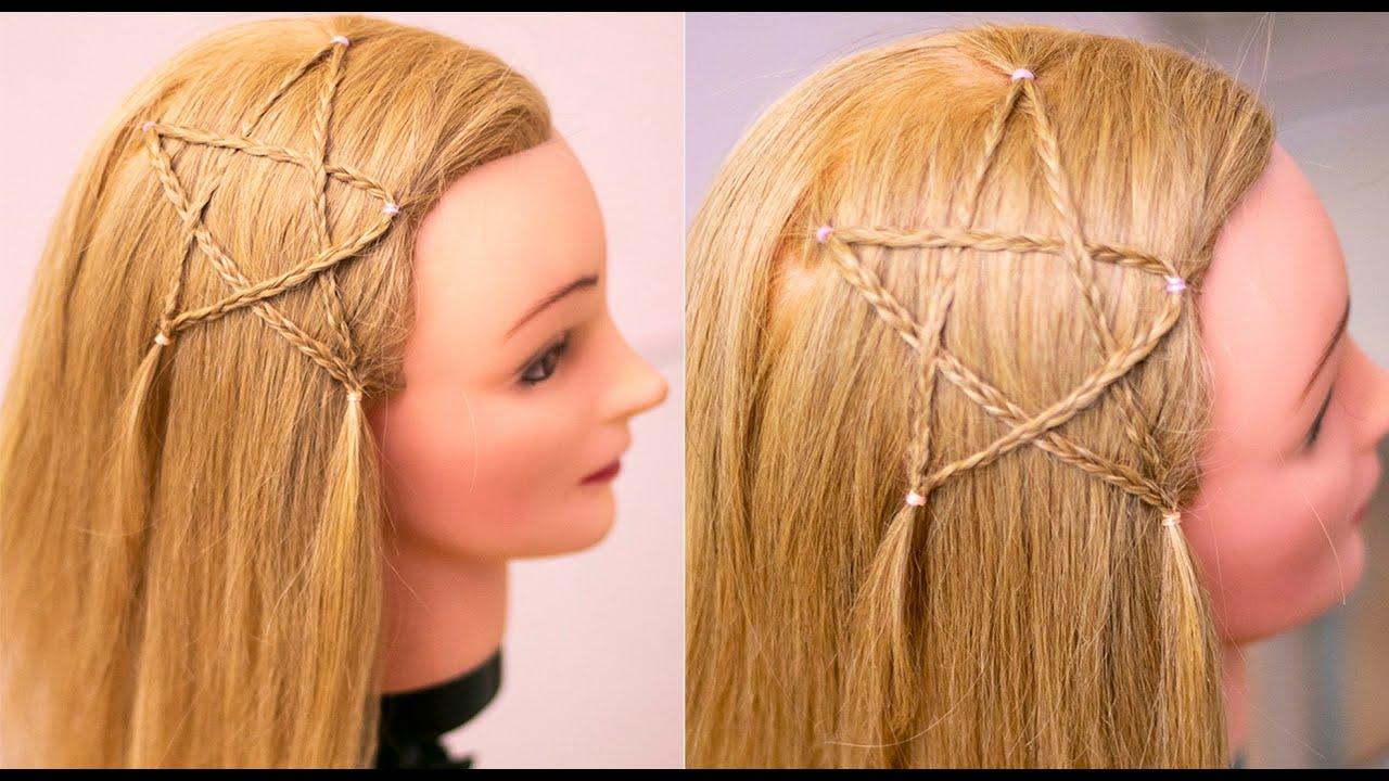 Детская причёска Звезда из кос. Быстро и просто. Peinado