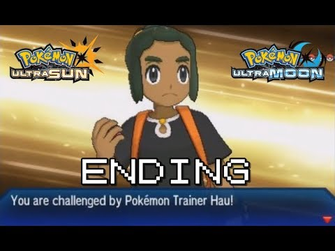 ENDING! vs Hau Champion Title Defense (Pokemon Ultra Sun & Ultra Moon)