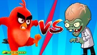 Plants Vs Zombies 2 Angry Birds Evil Red Vs Dr. Zomboss!