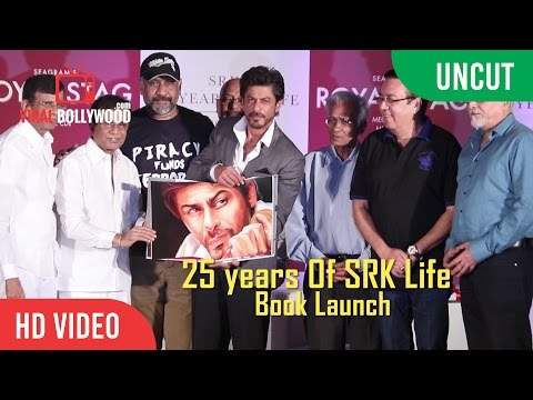 UNCUT - SRK 25 Years Of A Life Book Launch | Shahrukh Khan | Royal Stag