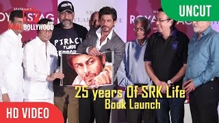 UNCUT - SRK 25 Years Of A Life Book Launch   Shahrukh Khan   Royal Stag