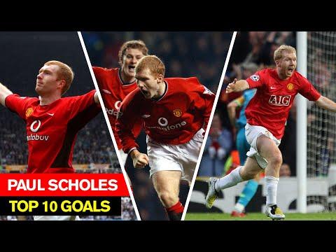 Paul Scholes I Top 10 Goals I Manchester United