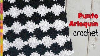 Punto Arlequín Reversible Tejido A Crochet / Tejiendo Perú