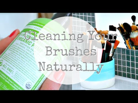 How To Clean Your Makeup Brushes Naturally \ Cleaning Your Brushes Naturally