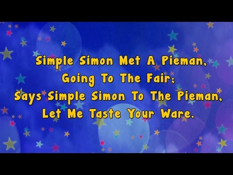 Karaoke - Simple Simon | Karaoke Rhyme
