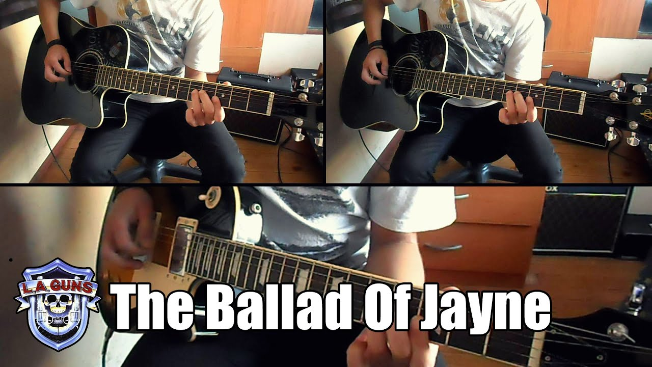 l a guns the ballad of jayne instrumental full cover youtube
