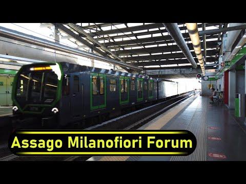 Metro Station Assago Milanofiori Forum - Milan - Walkthrough 🚶