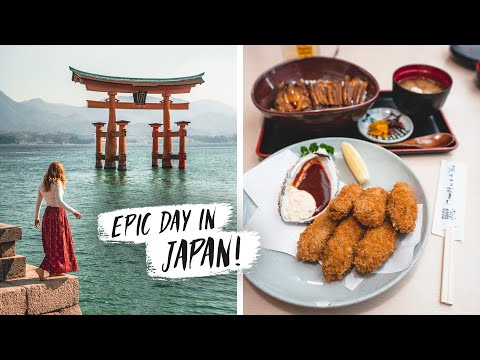 Most BEAUTIFUL Shrine in Japan! + Trying Unique Japanese Foods (Miyajima Floating Torii Gate)