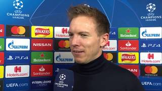 Julian Nagelsmann im Interview mit DAZN nach Manchester City vs Hoffenheim