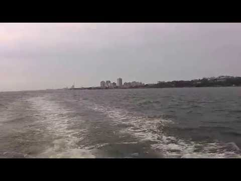 Tamsui river crossing by boat