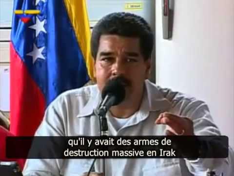 Le président vénézuélien Nicolas Maduro sur la guerre en Syrie.