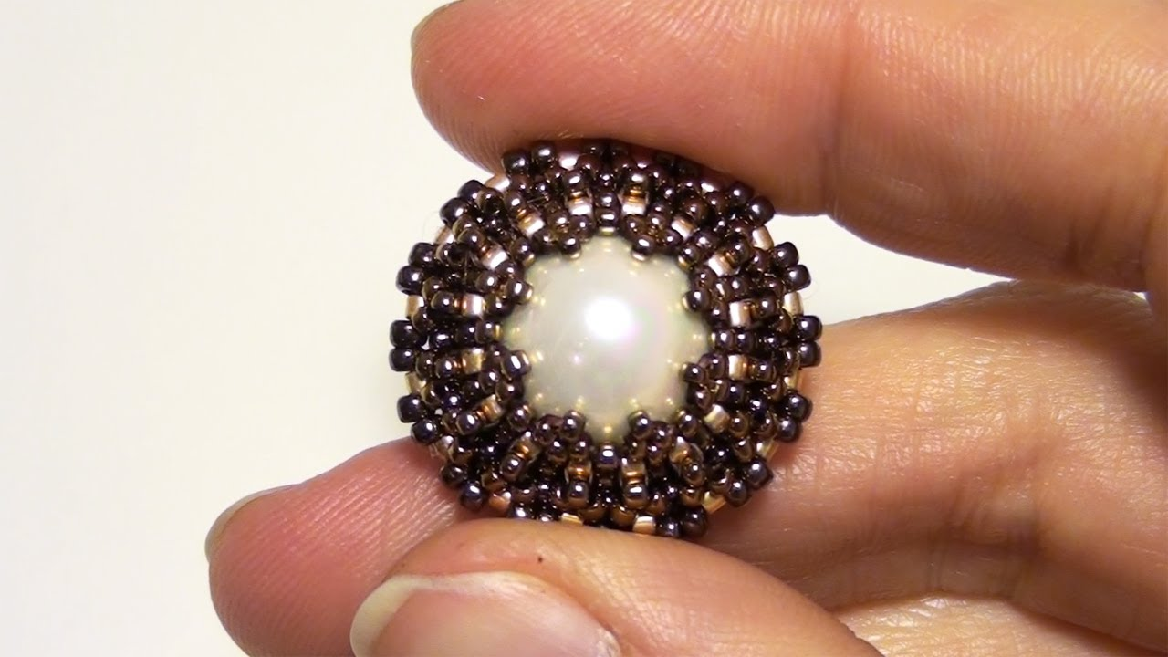 BeadsFriends: How to bezel a pearl using Seed beads and ...