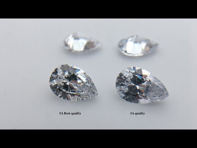 Cubic Zirconia White Color Pear Shape Gemstones 3A Quality VS 5A Best quality