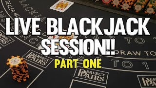 INSANE LIVE BLACKJACK SESSION! - PART ONE
